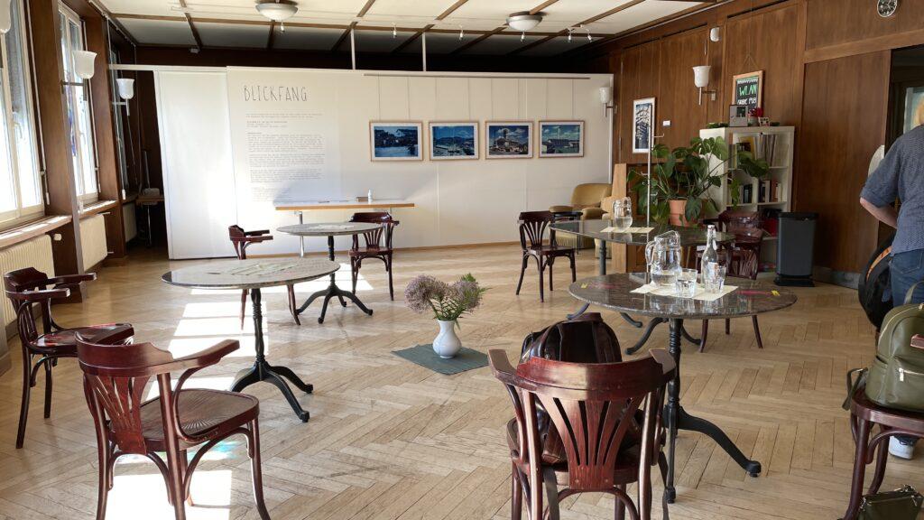 Der Raum im Anschluss an die Veranstaltung
